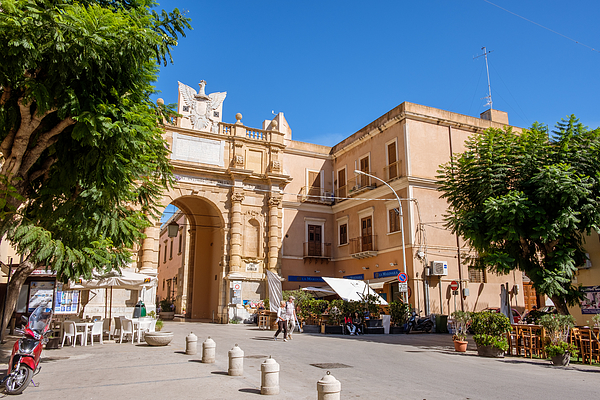 Marsala, Sicily, Italy - October 17, 2019 - The Entrance To The Old City Photograph by Finn Bjurvoll Hansen