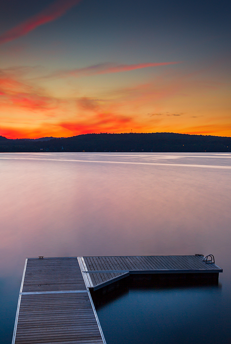 Massawippi lake  long exposure sunset DRI Photograph by Jean Surprenant