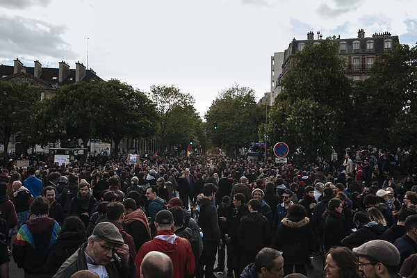 May Day Protesters Clash With Police In Paris Photograph by NurPhoto