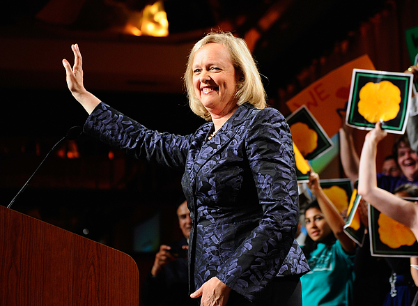 Meg Whitman And Supporters Attend Election Night Gathering Photograph by Kevork Djansezian