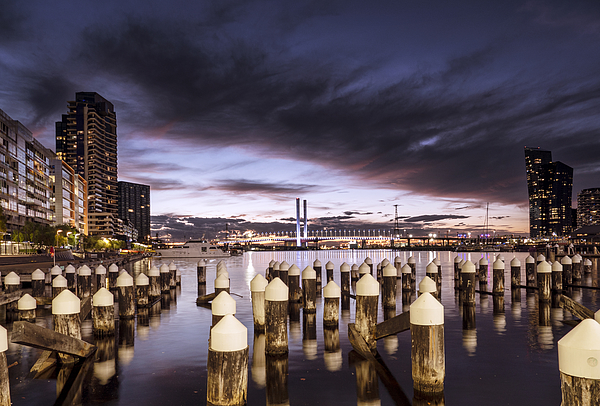 Melbourne at Dusk Photograph by Bernd Schunack