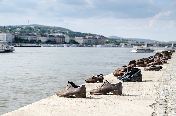 Memorial For Jews Killed Besides The Danube In Budapest Photograph by Marc Dufresne