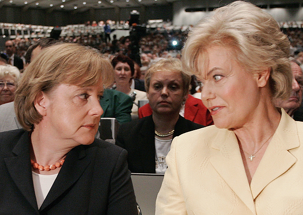 Merkel Attends Congress of Federation of Displaced Persons Photograph by Carsten Koall