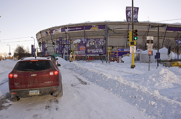 Metrodome Roof Collapses Under Heavy Snow Photograph by Tom Dahlin