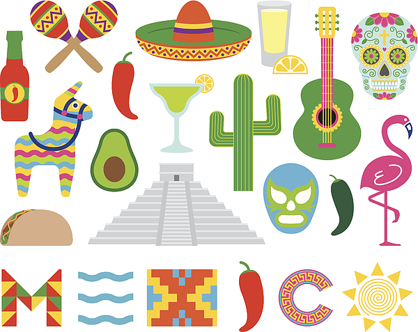 Mexican Icons Drawing by VladSt