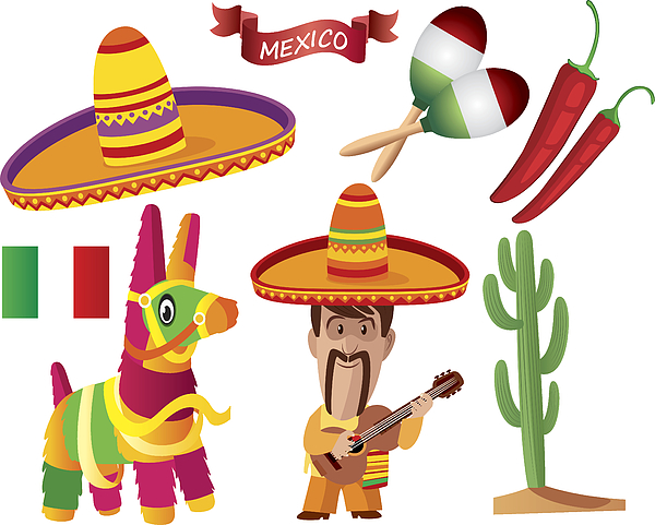 Mexican Symbols Drawing by Drmakkoy