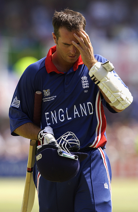 Michael Vaughan of England looks dejected Photograph by Tom Shaw