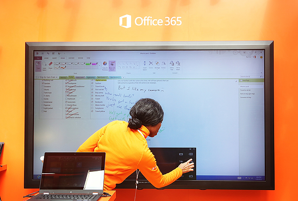 Microsoft Launches Office 2013 In New Yorks Bryant Park Photograph by Mario Tama