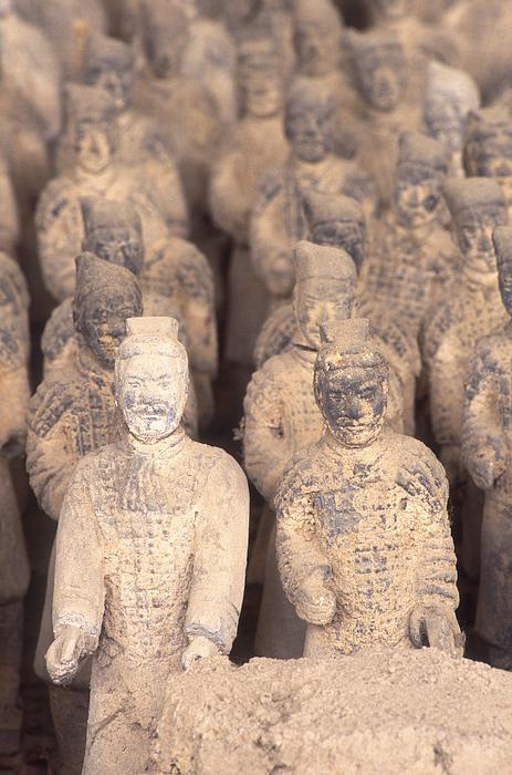 Miniature Terracota Warriors, Shenzen, Guangdong Province, China Photograph by Dallas and John Heaton