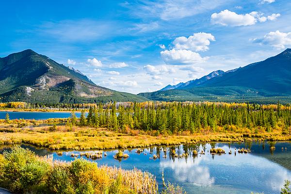 Minnewanka lake in Canadian Rockies in Banff Alberta Canada Photograph by WanRu Chen