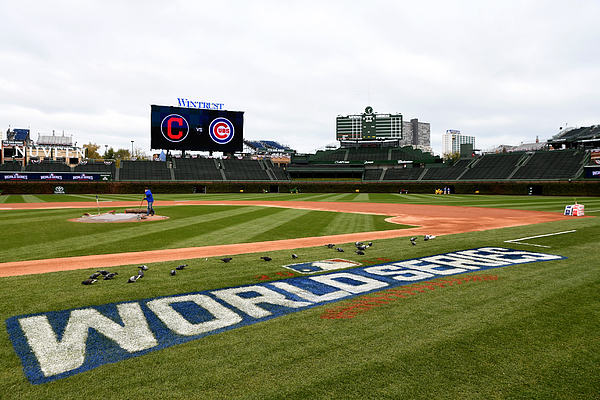 MLB: OCT 27 World Series - Workouts - Indians at Cubs Photograph by Icon Sportswire