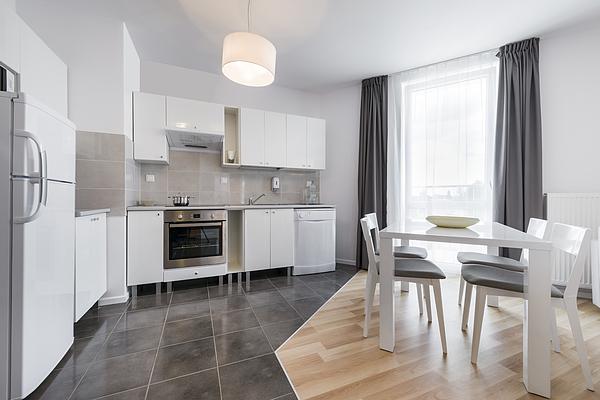 Modern kitchen interior design Photograph by Jacek Kadaj
