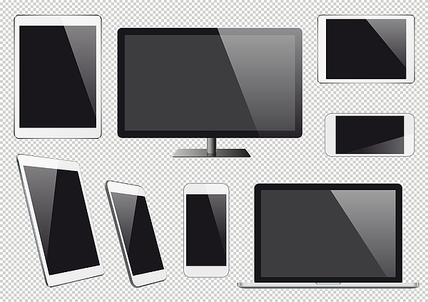 Modern Vector Digital Devices With Blank Screens Drawing by Et-artworks