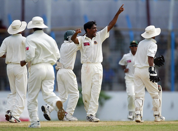 Mohammad Rafique of Bangladesh celebrates Photograph by Clive Rose