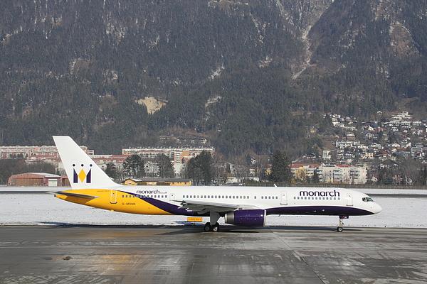 Monarch Airways Boeing 757-200 passenger jet in Innsbruck Photograph by Pejft