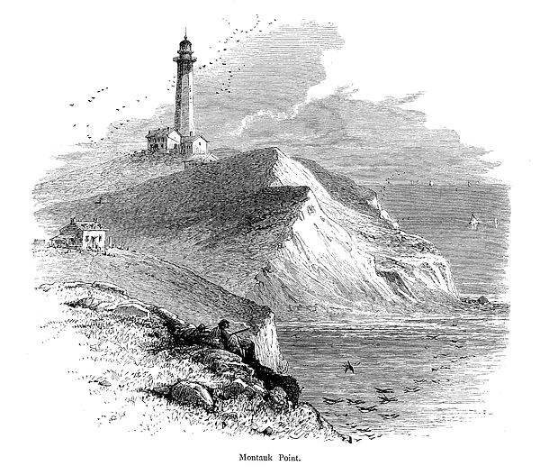 Montauk Point, Eastern Long Island | Historic American Illustrations Drawing by NSA Digital Archive