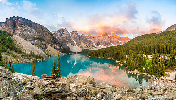 Moraine Lake in Banff National Park, Alberta, Canada. Photograph by Francis Yap M