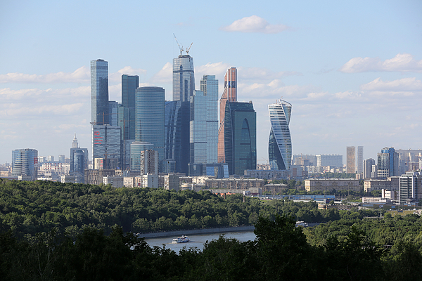 Moscow City Skylines And Residential Property Photograph by Bloomberg