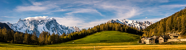 Mountains and trees. Photograph by Daniele Foresi