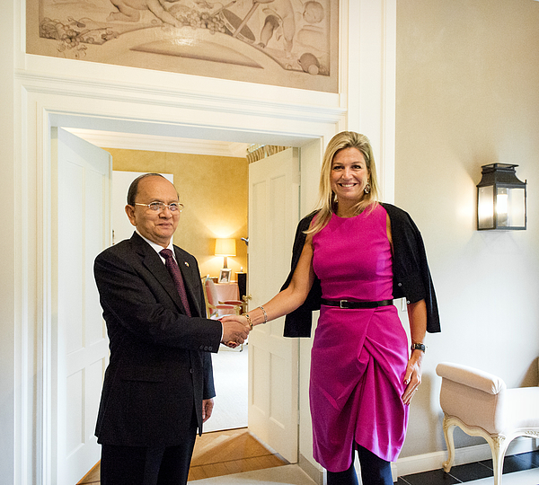 Myanmar President Thein Sein On Two-Day Visit To Holland Photograph by Netherlands Royal Pool