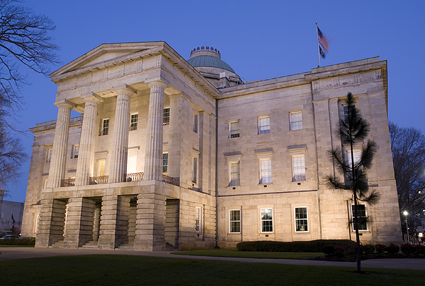 NC Capitol at Dusk 02 Photograph by Matejphoto