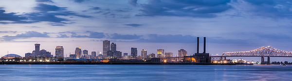 New Orleans Skyline From Across Mississippi River At Sunset Photograph by Drnadig