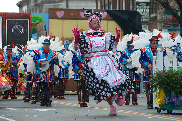 New Years Day Mummers Parade Photograph by Bastiaan Slabbers