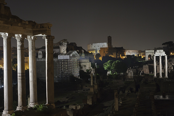Nght in Rome Photograph by Adriano Ficarelli