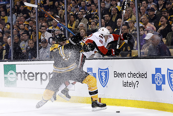 NHL: APR 17 Round 1 Game 3 - Senators at Bruins Photograph by Icon Sportswire