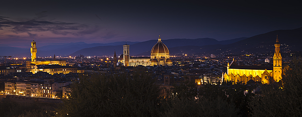 Night firenze Photograph by Adriano Ficarelli