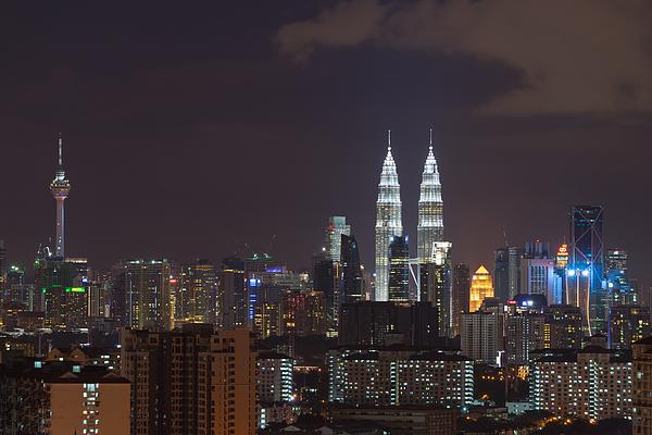 Night View In Kuala Lumpur Photograph by Shaifulzamri