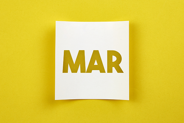 Note Paper With March Word On It Photograph by Atakan