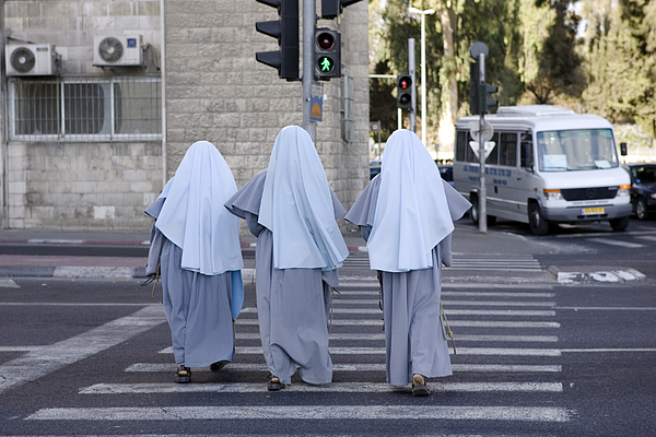 Nuns on the Run Photograph by TerryJ