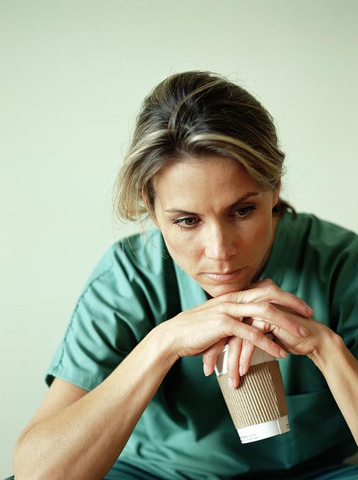 Nurse Taking Coffee Break Photograph by Zia Soleil