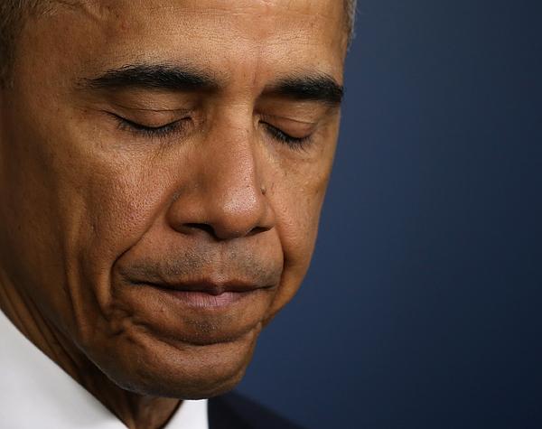 Obama Addresses Drone Strike On Al Qaeda In Pakistan That Killed American And Italian Hostage Photograph by Mark Wilson
