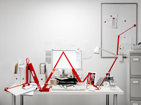 Office equipment making graph line Photograph by Jw Ltd