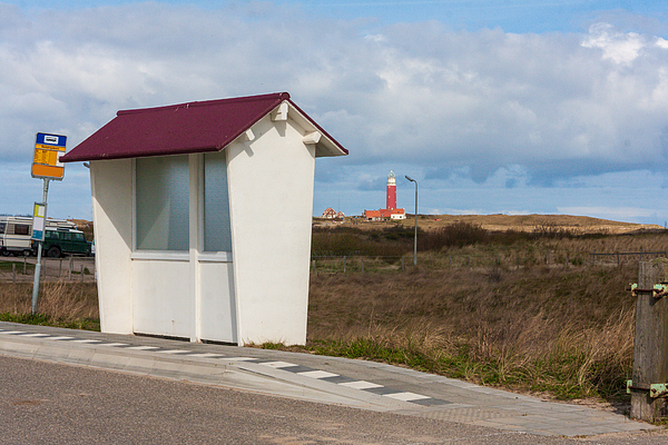 Old fashioned bus stopon the island of Texel, the Netherlands Photograph by Flottmynd
