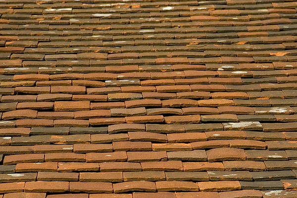 Old terracotta tiles on roof Photograph by Lyn Holly Coorg