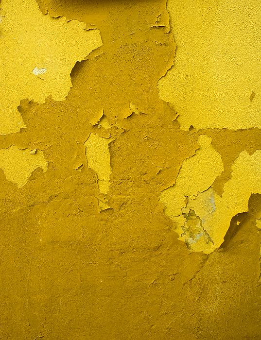 Old yellow wall with peeling paint Photograph by Lyn Holly Coorg