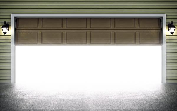 Open Garage Door Photograph by Imaginima