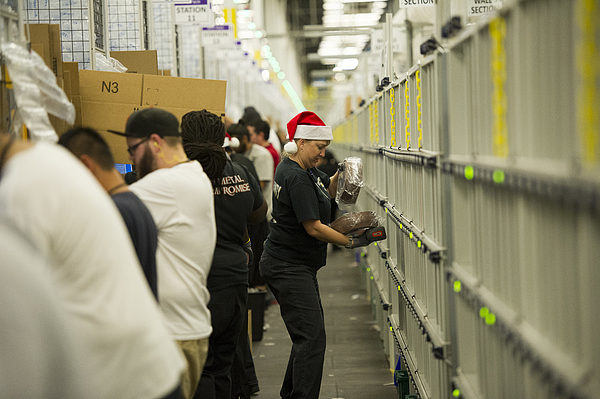 Operations Inside An Amazon.com Inc. Fulfillment Center Ahead Of Cyber Monday Photograph by Bloomberg