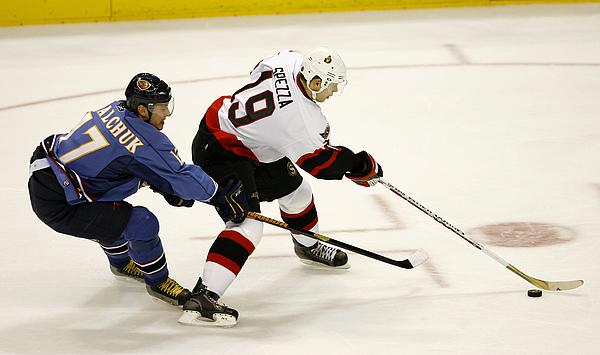 Ottawa Senators vs Atlanta Thrashers - November 8, 2006 Photograph by Mike Zarrilli