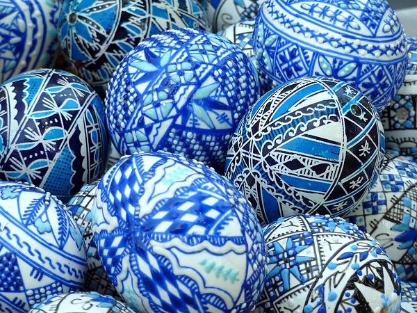 Painted Easter eggs Photograph by Frans Sellies