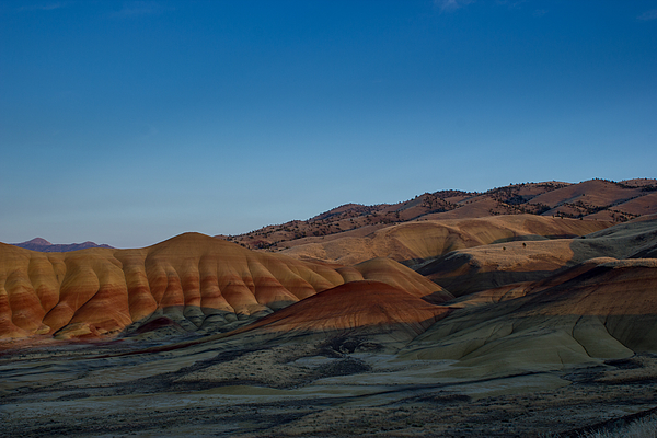 Painted Hills at sunset Photograph by Tyler Hulett