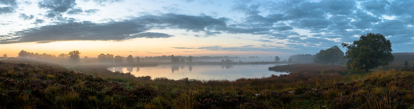 Panorama Misty Fen Photograph by William Mevissen
