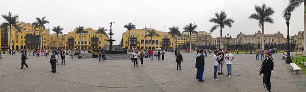 Panorama view of Plaza de Armas in Lima, Peru on a Photograph by Markus Daniel
