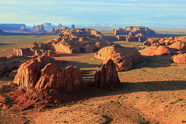 Panoramic View From A Mesa Into The Famous Monument Valley Photograph by Rainer Grosskopf