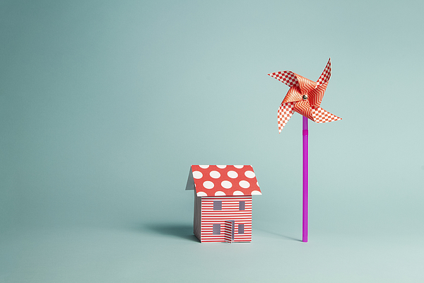 Paper Home and Paper Windmill Photograph by Catherine MacBride