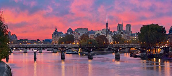 Paris, Ile de la Cite and Pont des arts at Morning Photograph by Sylvain Sonnet