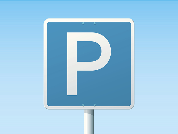 Parking Place German Road Sign Drawing by FrankRamspott